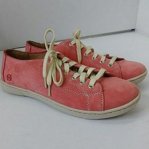 BORN Women's Size 7.5 M/W Pink Suede Casual Shoes